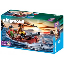 Playmobil Pirates Rowboat with Shark