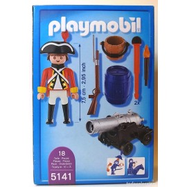 Playmobil Pirates Redcoat Cannon Guard