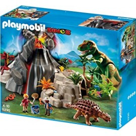 Playmobil Volcano with T-Rex Dinosaur