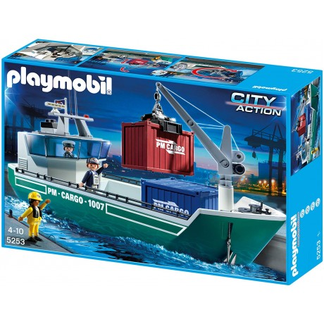 Playmobil Cargo Ship with Loading crane