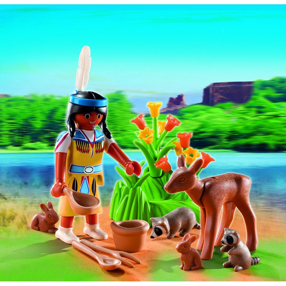 Plamobil American Girl with Forest Animals