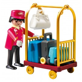 Playmobil Porter with Baggage Cart