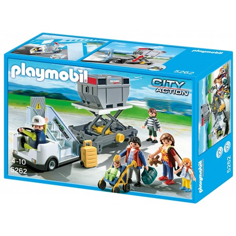 Playmobi  Aircraft Stairs with Passengers