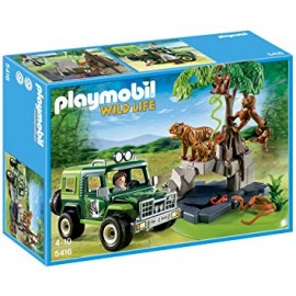 Playmobil  Jungle Animals and Off-Road Vehicle - Multi-Coloured