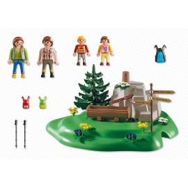 Playmobil Backpacker Family at Mountain Spring