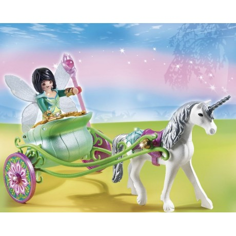 Playmobil Unicorn Carriage with Butterfly Fairy