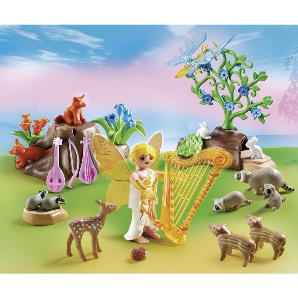 Playmobil Music Fairy with Woodland Creatures