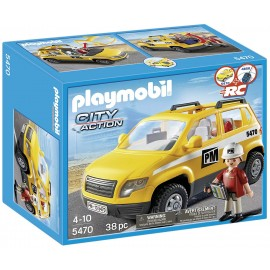 Playmobil Construction Site Supervisors Vehicle - Yellow