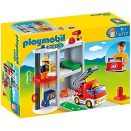 Playmobil 1.2.3. Take Along Fire Station.
