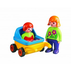 Playmobil Monther with Baby and Stroller