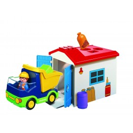 Playmobil 1.2.3 Truck with Garage.