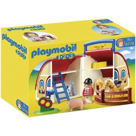 Playmobil 1.2.3 Take Along Farm Barn